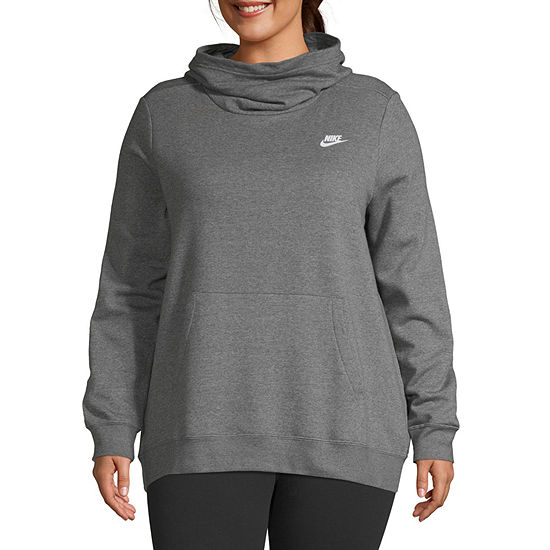 Nike Womens Hooded Neck Long Sleeve Hoodie-Plus