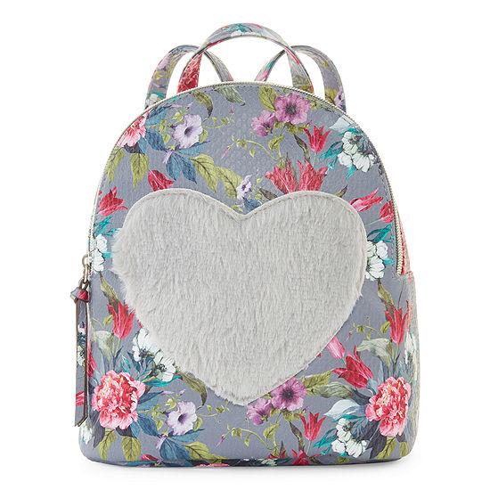 Arizona Flower Plush Heart Backpack