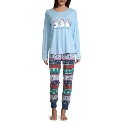 North Pole Trading Co. Fun Fairisle Family Womens Pant Pajama Set 2-pc. Long Sleeve