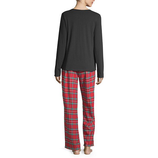 North Pole Trading Co. Fa La Llama Family Womens Pant Pajama Set 2-pc. Long Sleeve