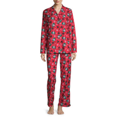 Disney Mickey Mouse Family Women's Coat Front  Pajama Set