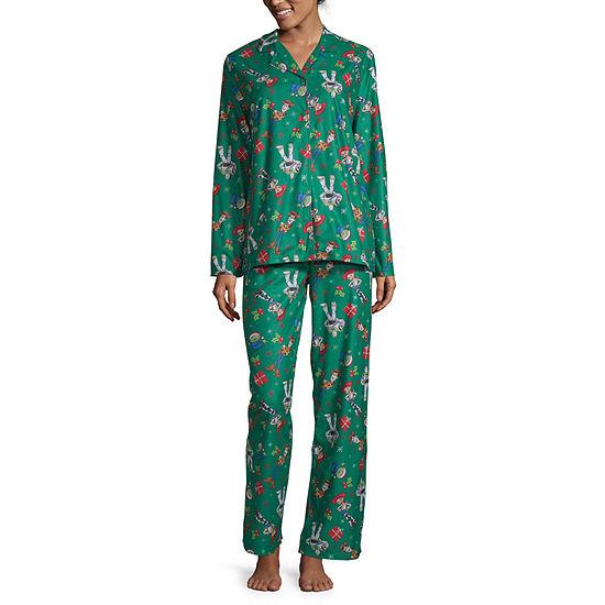 Disney Toy Story Family Women's Coat Front Pajama Set
