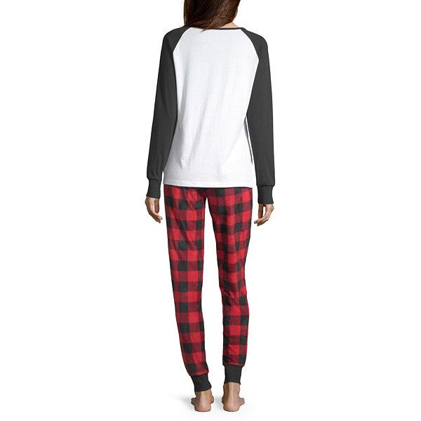 Holiday #Famjams Womens-Average Figure Pant Pajama Set 2-pc. Long Sleeve