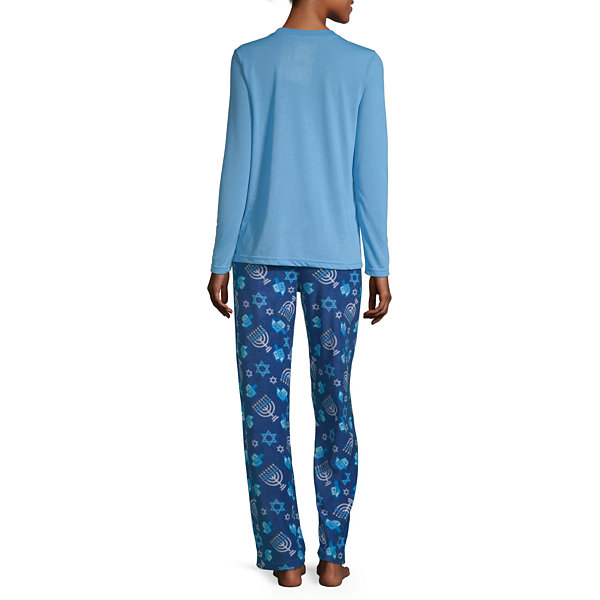 Hanukkah Family Womens Pant Pajama Set 2-pc. Long Sleeve