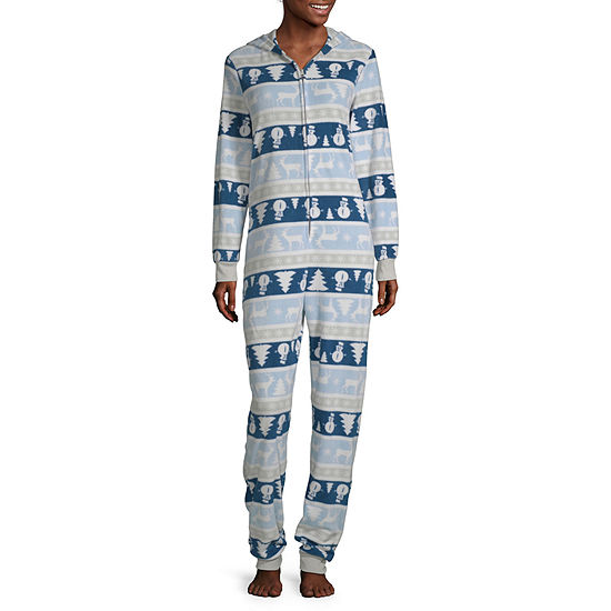 Secret Santa Chill Out Family Womens Microfleece Long Sleeve One Piece Pajama