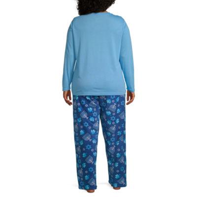 Hanukkah Family Womens-Plus Pant Pajama Set 2-pc. Long Sleeve