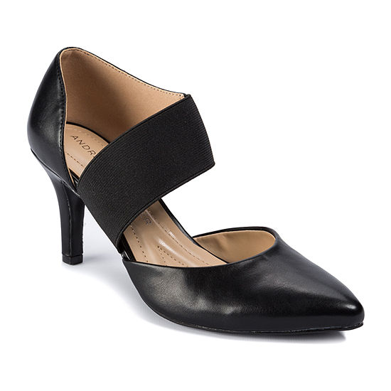 Andrew Geller Womens Maresa Pumps Slip-on Pointed Toe Cone Heel