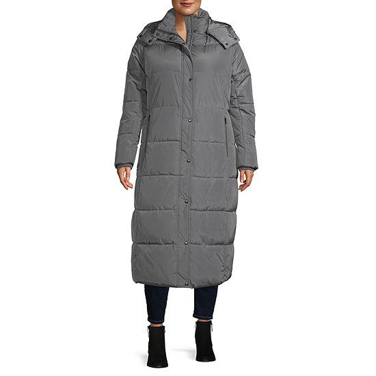 St. John's Bay Lightweight Puffer Jacket-Plus