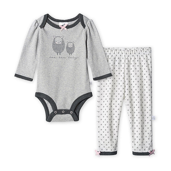 Just Born Girls 2-pc. Animal Pant Set Baby
