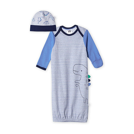 Just Born With Baby Hat 2-pc. Boys Nightgown
