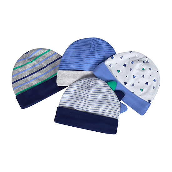 Just Born Baby Boys 4-pc. Baby Hat