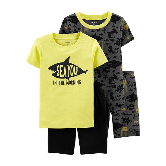 Carters 4 Pc Shorts Pajama Set Baby Boys