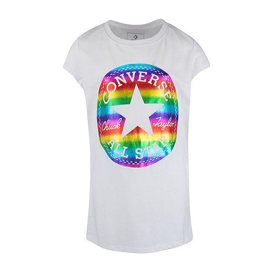 Converse Girls Round Neck Short Sleeve Graphic T-Shirt - Preschool