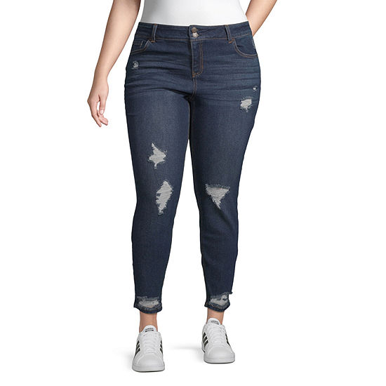 Vanilla Star Womens Mid Rise Skinny Regular Fit Jean - Juniors Plus