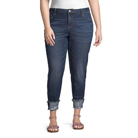 Vanilla Star - Juniors Plus Womens Mid Rise Skinny Regular Fit Jean