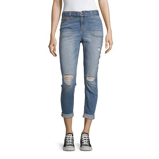 Vanilla Star - Juniors Womens Hem Detail Skinny Fit Jean