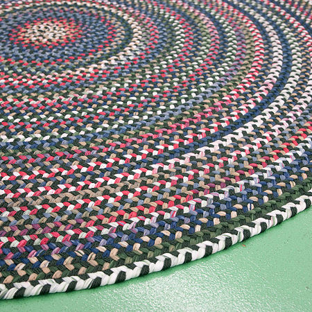 Colonial Mills American Pride Braided Round Reversible Indoor Rugs, One Size , Green Product Image