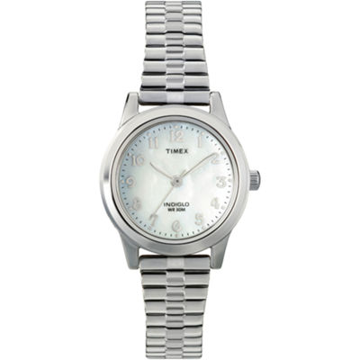Timex® Womens Round Mother-of-Pearl Watch T2M826