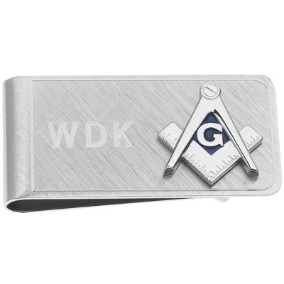 Personalized Masonic Emblem Money Clip