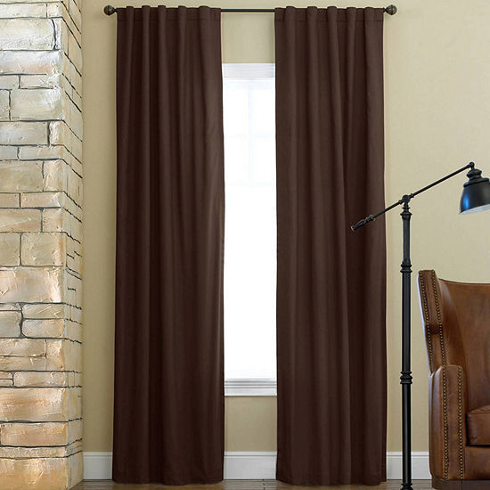 JCPenney Home Jenner Energy Saving Light-Filtering Back-Tab Single Curtain Panel