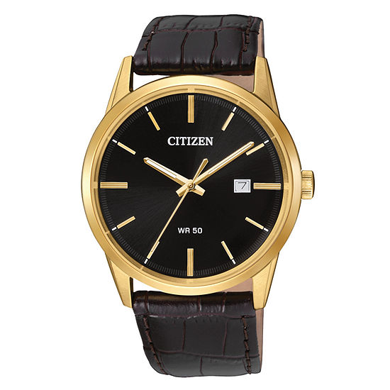Citizen Quartz Mens Brown Strap Watch Bi5002 06e