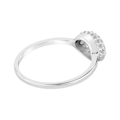 Lab-Created White Sapphire Sterling Silver Ring