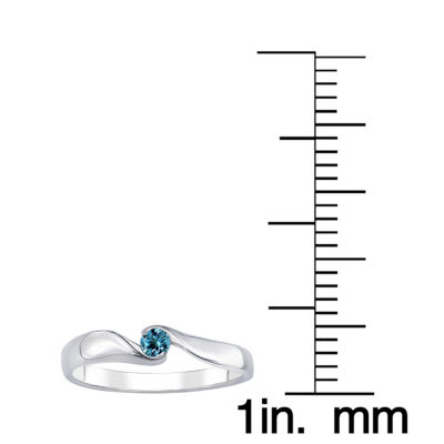 Genuine Blue Topaz Sterling Silver Ring