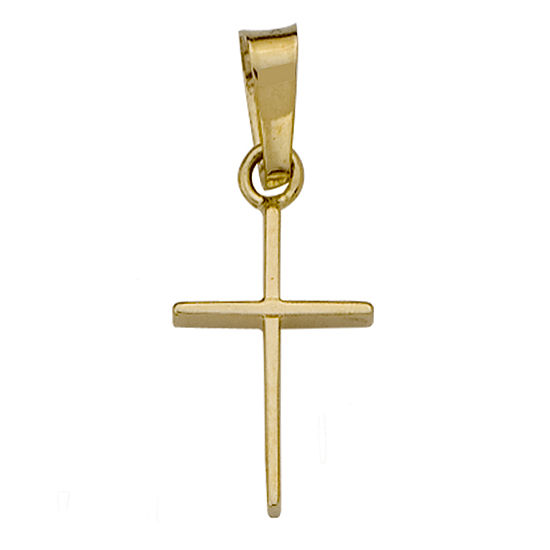 14K Yellow Gold Polished Charm  Pendant