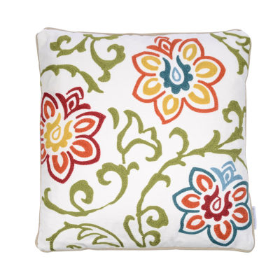 Levtex Pomona Embroidered Floral Square Decorative Pillow