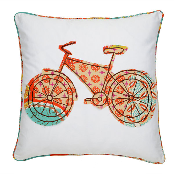 Levtex Petra Square Bicycle Decorative Pillow