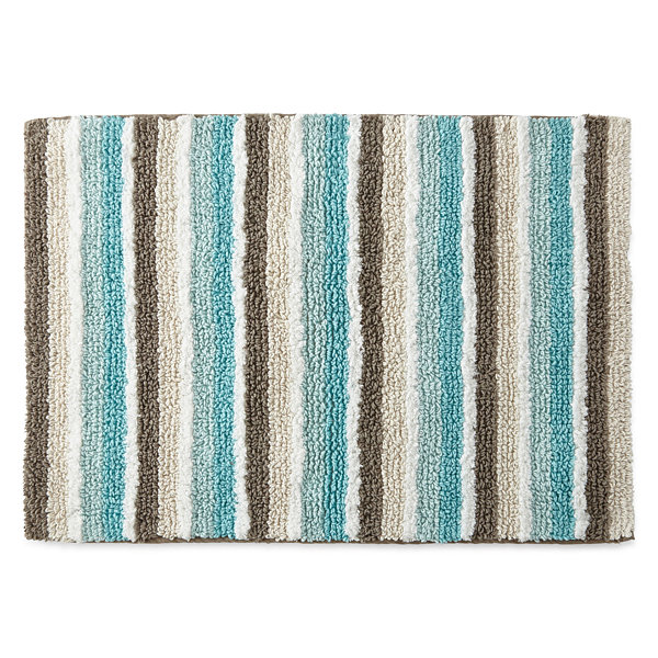 JCPenney Home™ Cotton Reversible Stripe Bath Rug Collection - JCPenney
