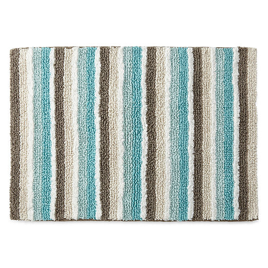 jcpenney home cotton reversible stripe bath rug collection - Jcpenney Bathroom Rugs
