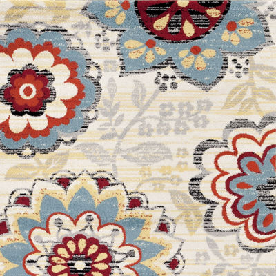 Toscano Floral Rectangle Rug