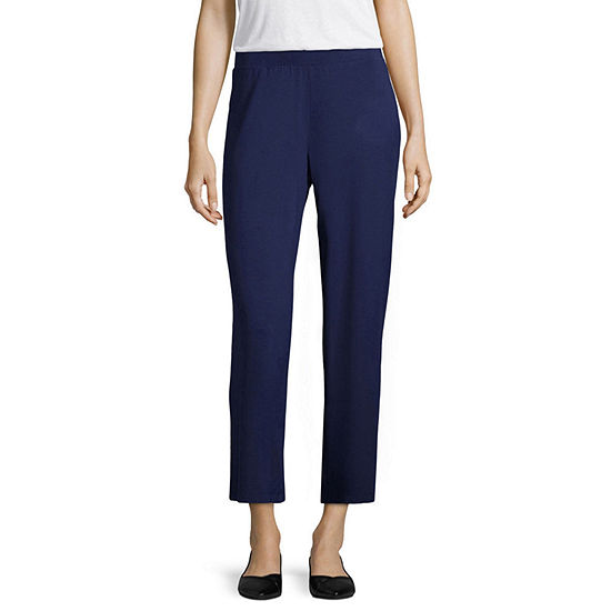 Liz Claiborne Studio Cropped Pants Jcpenney Color Navy Blue