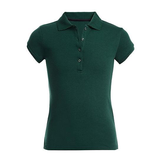 IZOD Little & Big Girls Short Sleeve Polo Shirt
