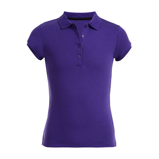 IZOD Little & Big Girls Short Sleeve Polo Shirt