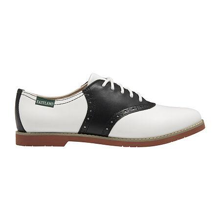 1940s Women's Footwear Eastland Womens Sadie Oxford Shoes 10 Wide White $67.50 AT vintagedancer.com