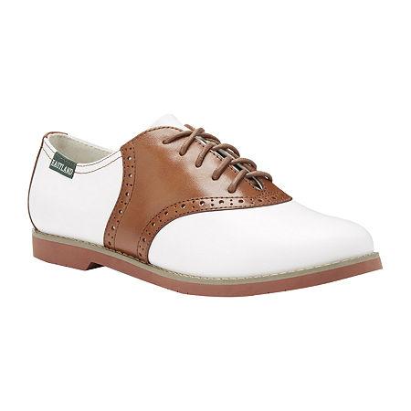 1940s Teenage Fashion: Girls Eastland Womens Sadie Oxford Shoes 10 Medium Beige $67.50 AT vintagedancer.com