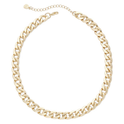 Monet® Gold-Tone Curb Link Collar Necklace