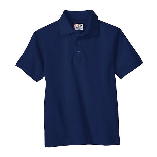 Dickies® Boys Short Sleeve Pique Polo