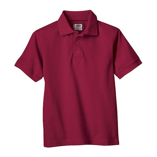 Dickies Big Boys Short Sleeve Wrinkle Resistant Polo Shirt