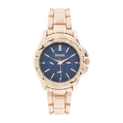 Decree® Womens Multifunction-Look Rose-Tone Bracelet Watch