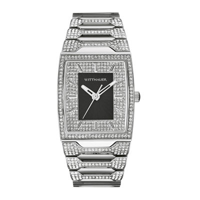 Wittnauer Mens Silver Tone Bracelet Watch-Wn3037