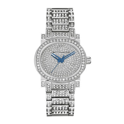 Wittnauer® Womens Crystal-Accent Stainless Steel Bracelet Watch WN4003
