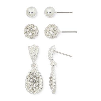 Mixit Silver-Tone 3-pr. Earring Set