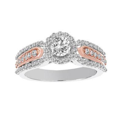 Lumastar 1 CT. T.W. Diamond 14K White and Rose Gold Engagement Ring