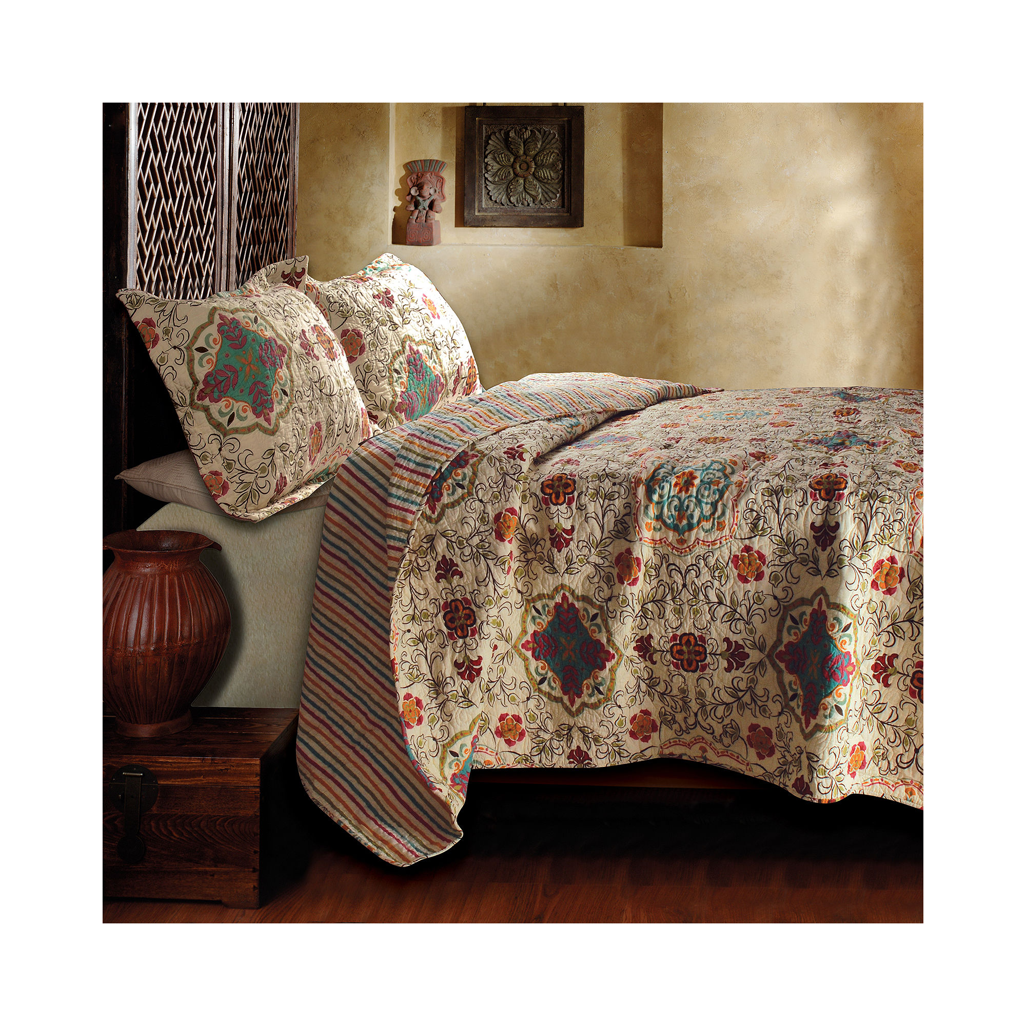 Greenland Home Fashions Esprit Spice Moroccan Quilt Set