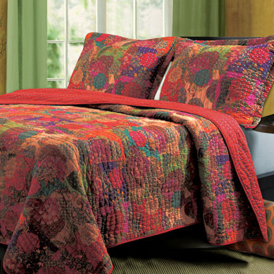 Greenland Home Fashions Jewel Bohemian Quilt Set