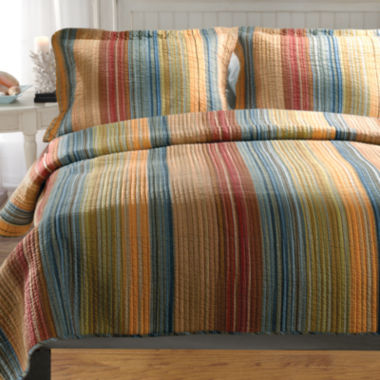 jcpenney.com | Greenland Home Fashions Katy Stripe Quilt Set & Accessories
