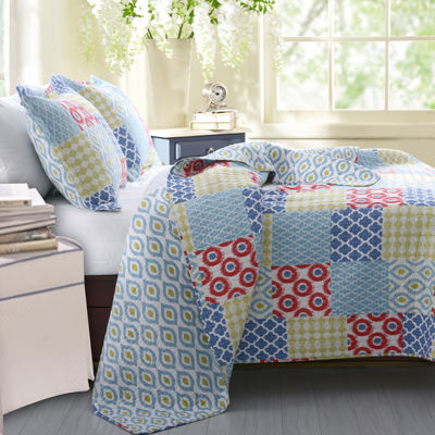 Greenland Home Fashions Kendall Geometric Quilt Set